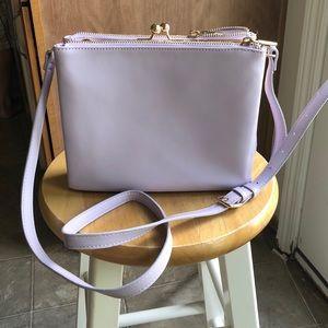 Lilac Purple Target Crossbody Bag